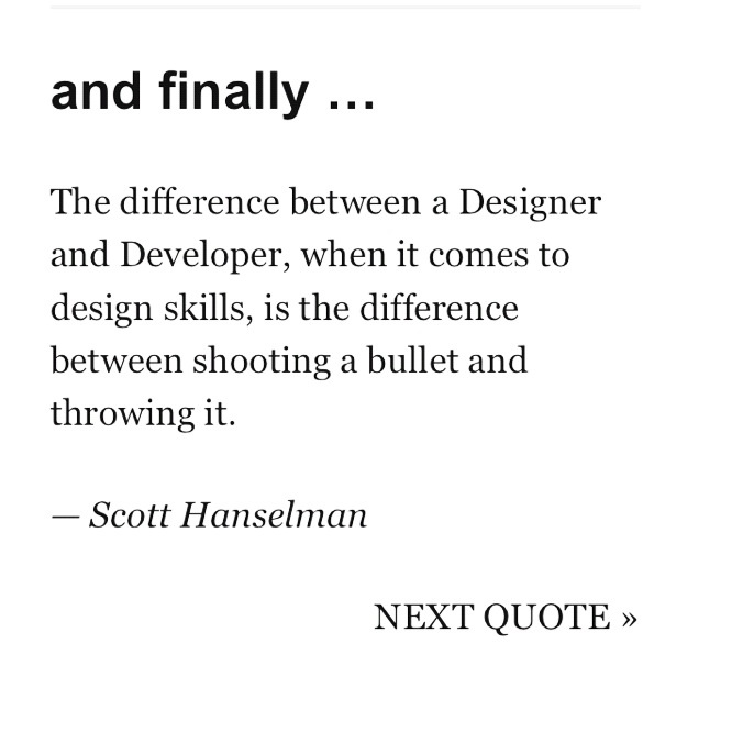The truth about designers....