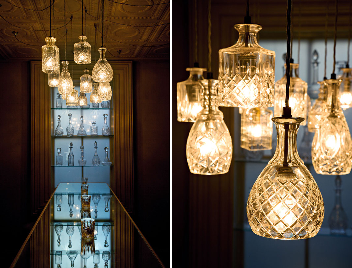 De constructed delightful decanter lights you had me for Suspension 3 luminaires