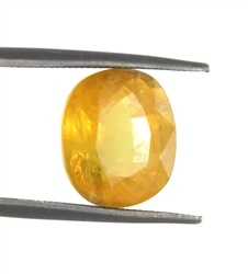 This large yellow sapphire would let your fingers sing..