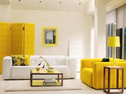 The yellow accent in this room add a pop of chic..