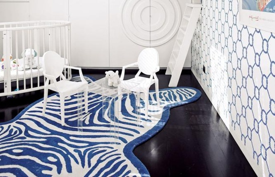 Royal Blue Zebra Nursery