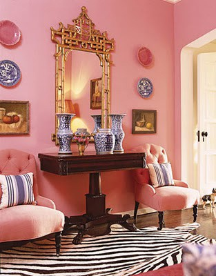 Pink Walls Zebra Rug