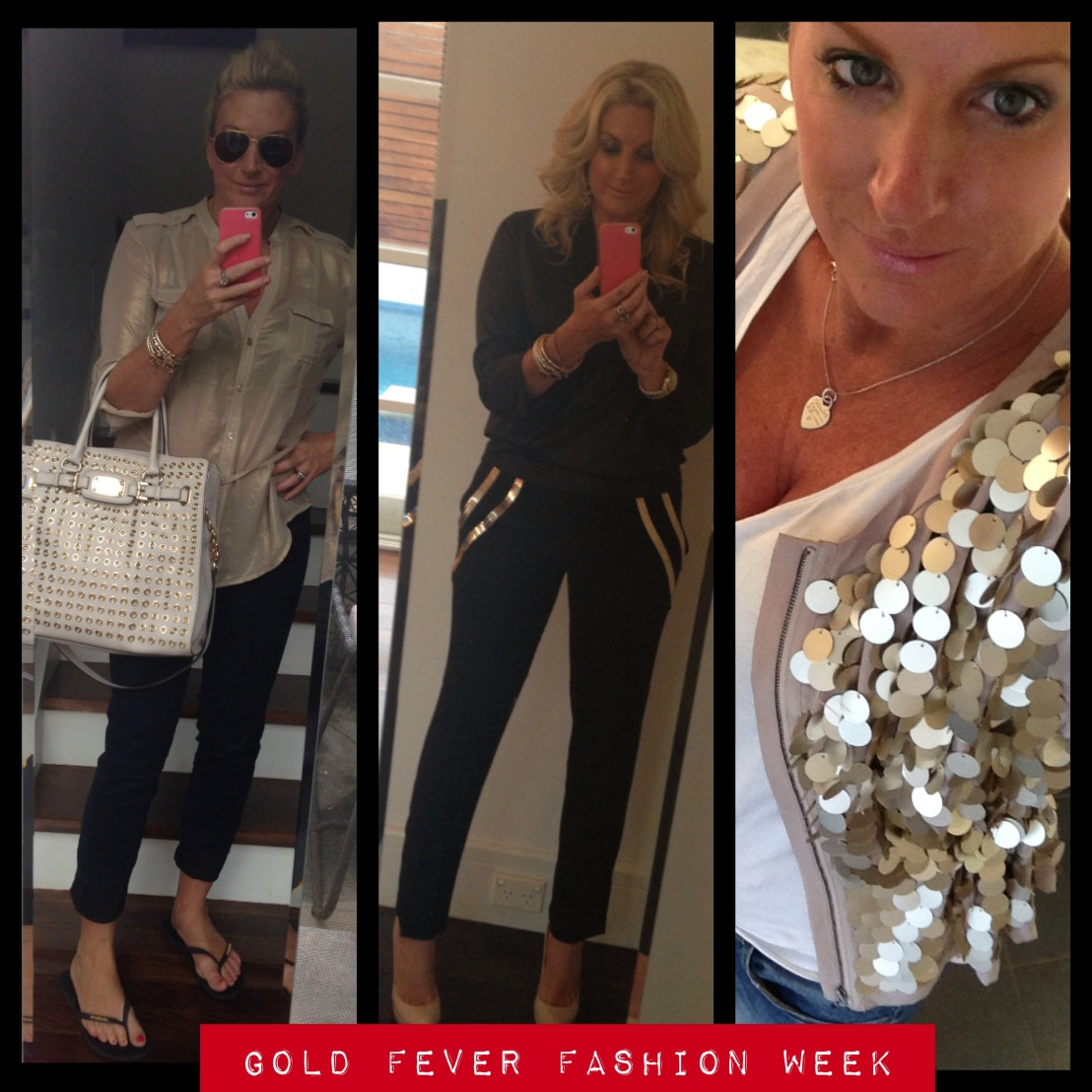 Weekend Round Up What I Wore Gold Style..