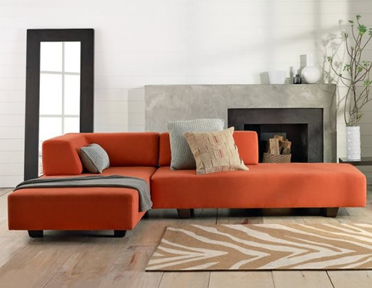 Burnt Orange Sectional | Minotti