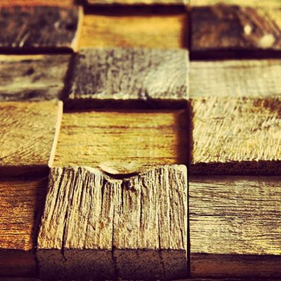Fabulous Friday | 100 year old Chic Eco Timber Tiles