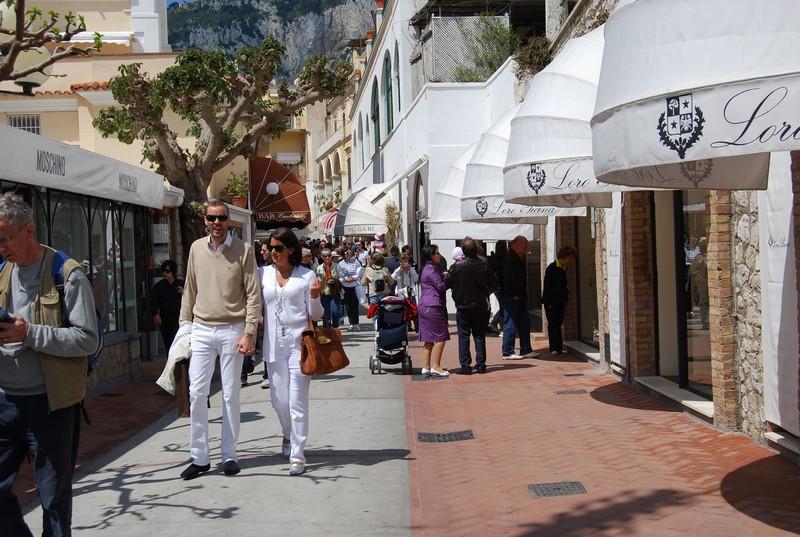 Capri-shopping